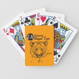 Cartões de jogo pstos em perigo do tigre | de | Be Baralhos Para Poker
