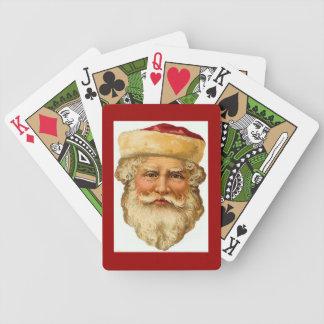 Cartões de jogo retros do portait- de Papai Noel Baralhos Para Pôquer