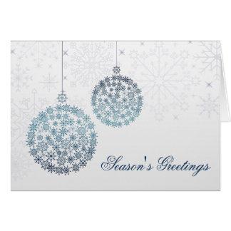 cartões de natal azuis de prata festivos do