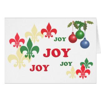 Cartões de natal da alegria da flor de lis