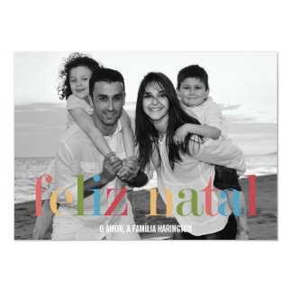 Cartões de Natal de Arco-íris Convite 12.7 X 17.78cm