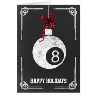 cartões de Natal do jogador de bilhar do quadro