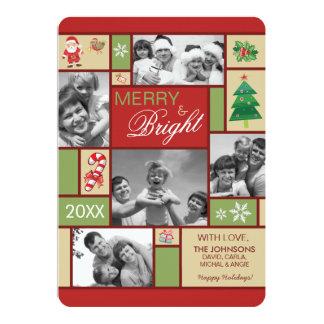 Cartões de natal festivos alegres e brilhantes da convites personalizado