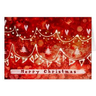 Cartões de natal festivos das festões