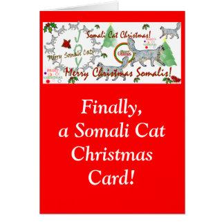 Cartões de Natal finalmente somalianos do gato