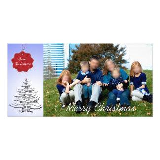 Cartões de Natal modernos da foto Cartão Com Foto