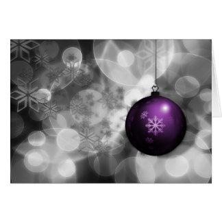 cartões de natal roxos de prata festivos do