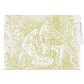 Cartões de natal santamente do comedoiro da