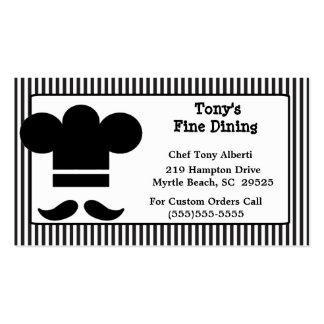 Cartões de negócio da restauração de jantar finos cartão de visita