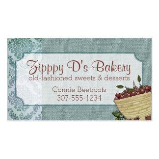 Cartões de negócios da padaria do cozimento da