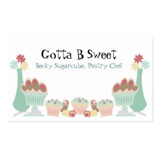Cartões de negócios doces saborosos do cozinheiro cartão de visita