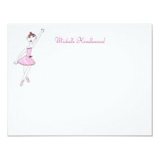 Cartões de nota da bailarina convite 10.79 x 13.97cm