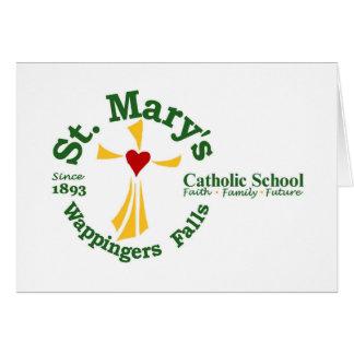 Cartões de nota da escola católica de St Mary