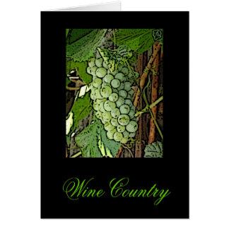 Cartões de nota da região vinícola