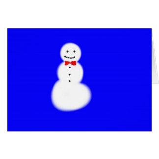 Cartões de nota do boneco de neve