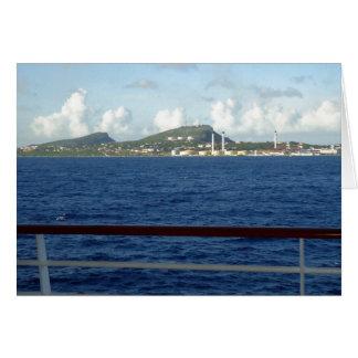 Cartões de nota do vazio do litoral de Curaçau