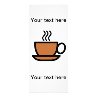 Cartões de publicidade personalisierbar - café 10.16 x 22.86cm panfleto