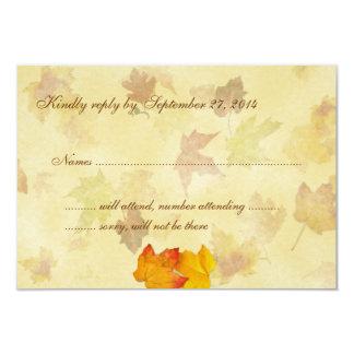 Cartões de resposta do convite do casamento do