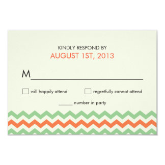 Cartões de resposta do ziguezague do casamento convite 8.89 x 12.7cm