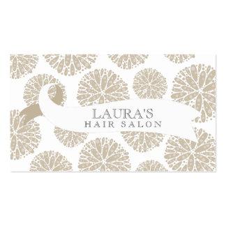 Cartões de visitas à moda bege brancos do cabele