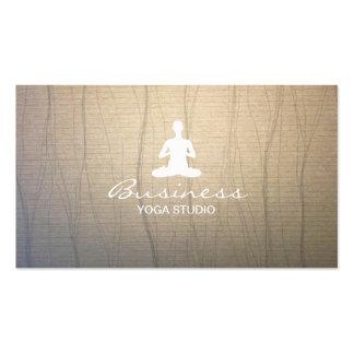 Cartões de visitas à moda da ioga & da meditação