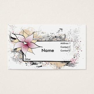 Cartões de visitas abstratos florais do design