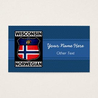 Cartões de visitas americanos noruegueses de