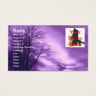 Cartões de visitas Amethyst dos céus