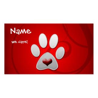 Cartões de visitas animais