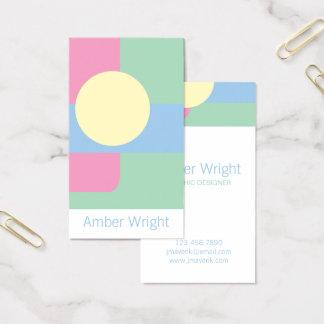 Cartões de visitas artísticos modernos
