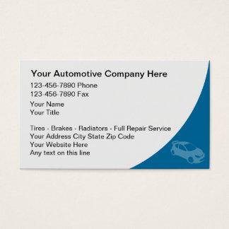 Cartões de visitas automotrizes