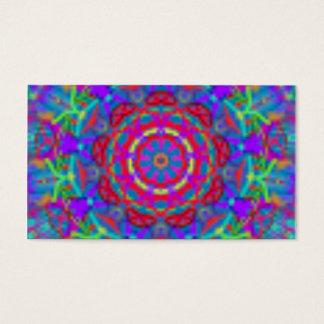Cartões de visitas azuis da mandala do universo