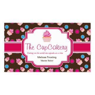 Cartões de visitas bonitos da padaria de Brown e d