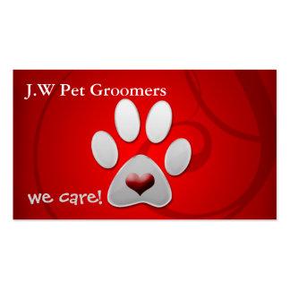 cartões de visitas bonitos do animal de estimação