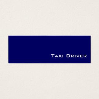 Cartões de visitas brancos do taxista do marinho