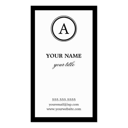 Cartões de visitas brancos e pretos elegantes do m