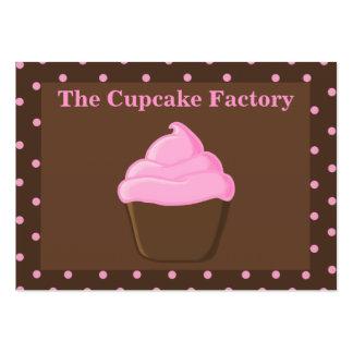 """Cartões de visitas """"carnudos"""" do rosa e do cupcake"""