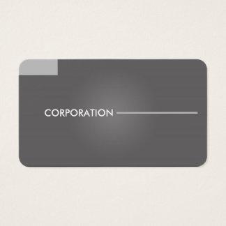 Cartões de visitas cinzentos modernos, limpos