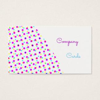 Cartões de visitas coloridos
