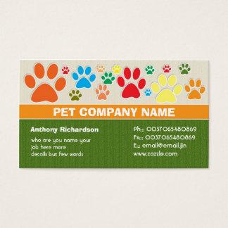cartões de visitas coloridos do veterinário do