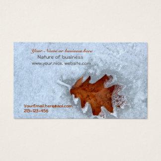 Cartões de visitas com um toque da natureza