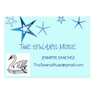 Cartões de visitas com uma imagem da cisne