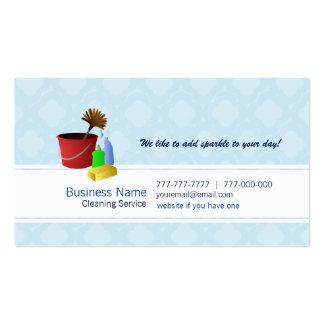 Cartões de visitas comerciais da limpeza