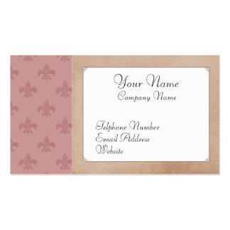 Cartões de visitas cor-de-rosa do vintage