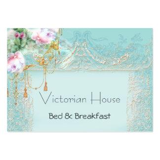 Cartões de visitas cor-de-rosa dos rosas do