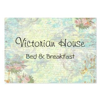 Cartões de visitas cor-de-rosa dos rosas do Victor