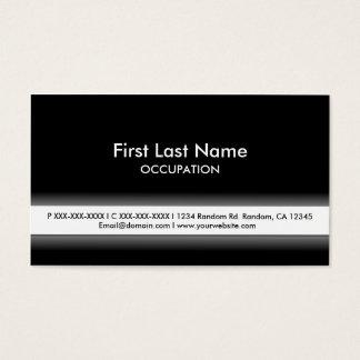 Cartões de visitas customizáveis brancos pretos
