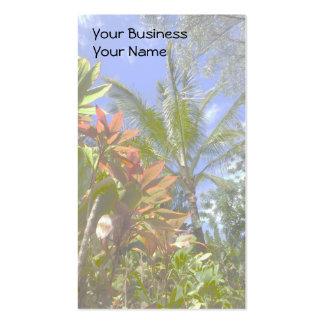 Cartões de visitas customizáveis das plantas tropi