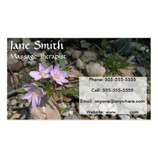 Cartões de visitas da beleza de primavera