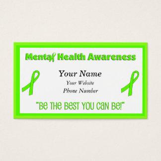Cartões de visitas da consciência da saúde mental